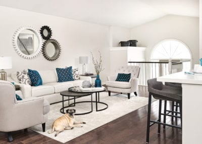 Living Room Cream Blue