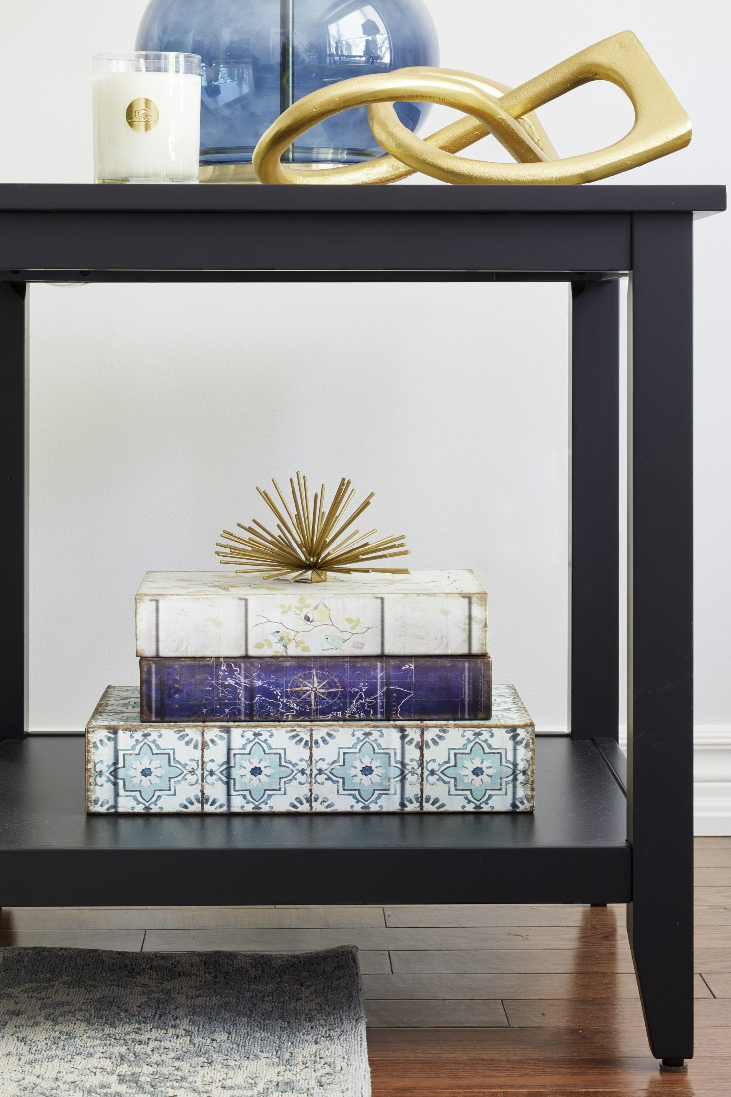 end table decor ideas gold accents and books styling tottenham