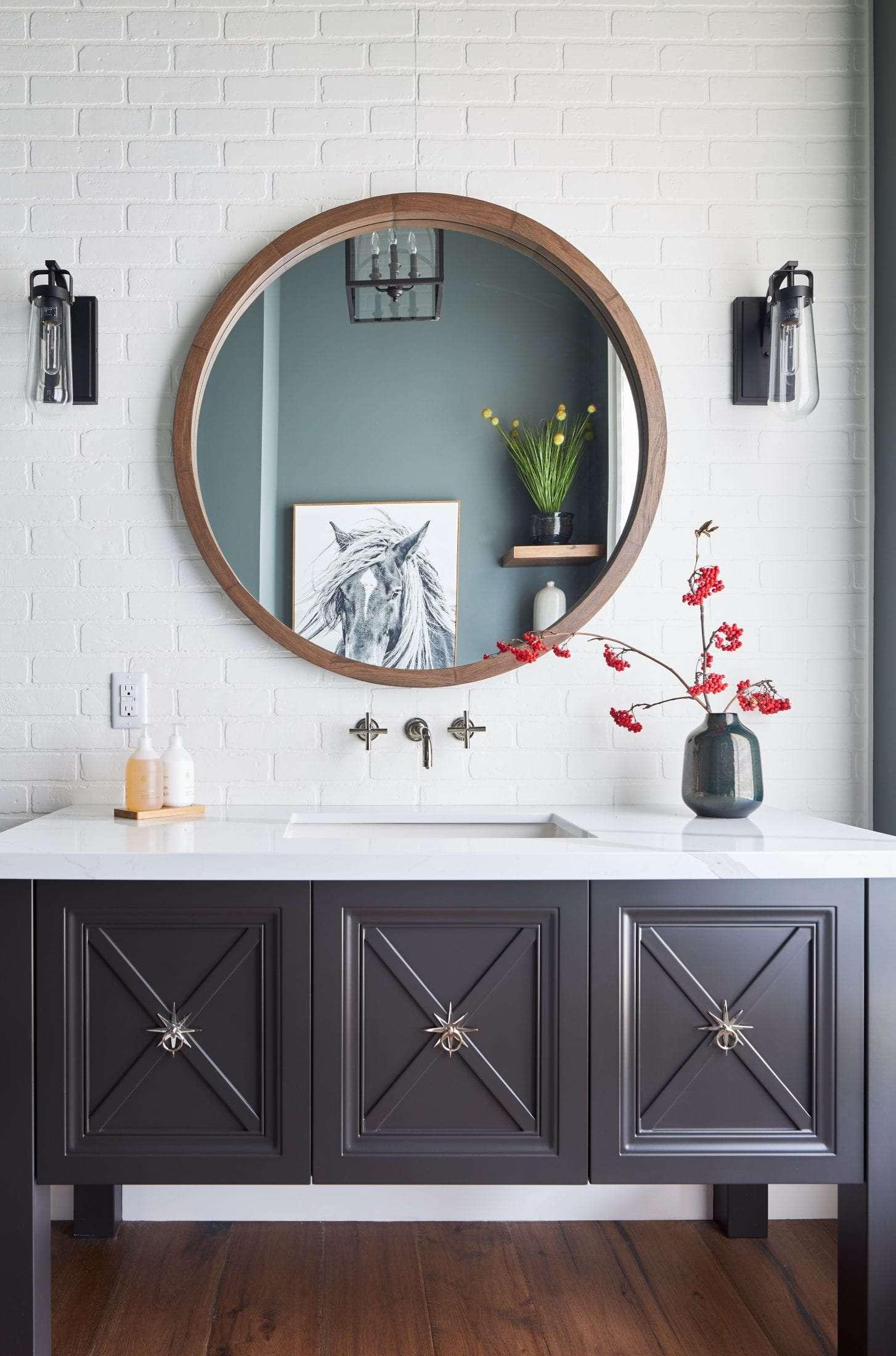 Powder Room Bathroom Design Tottenham PamelaLynnInteriors