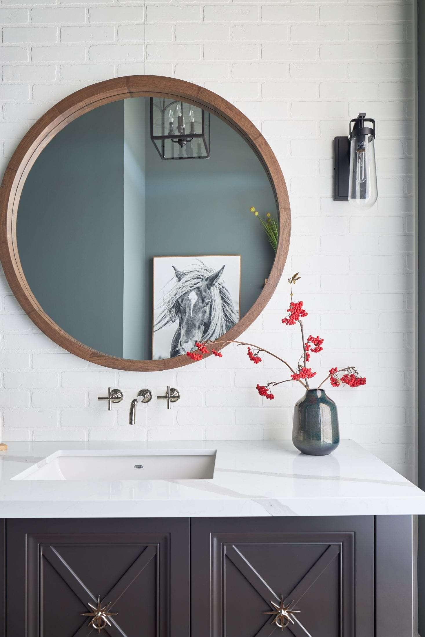 Custom Vanity Powder room custom Home Pamela Lynn Interiors