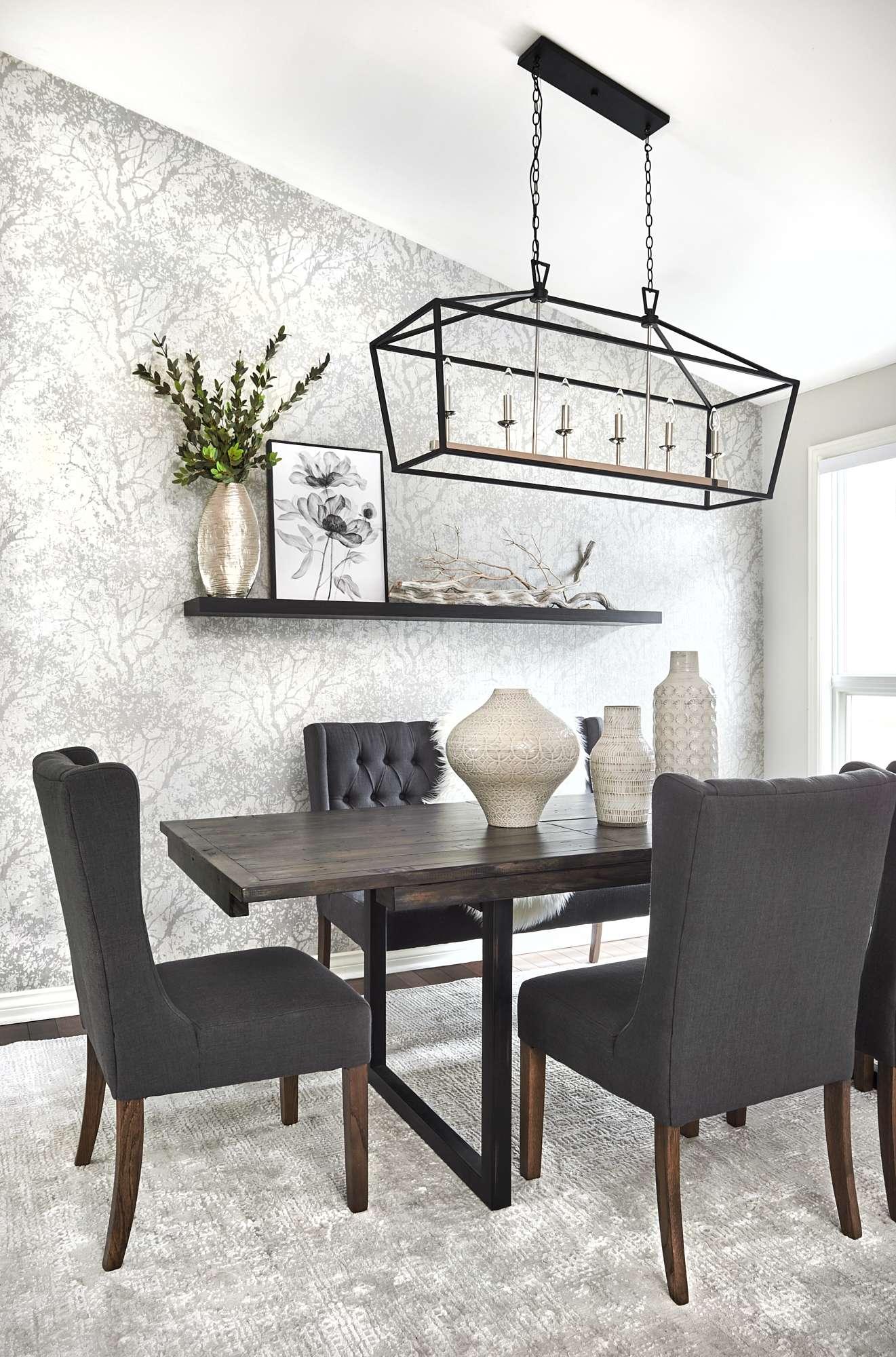 Gray Dining Room Design wallpaper rustic pottery kempenfelt bay