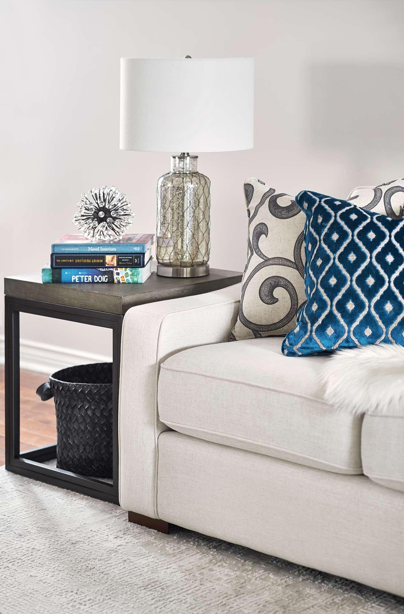 Interior design custom down toss cushions teal accents