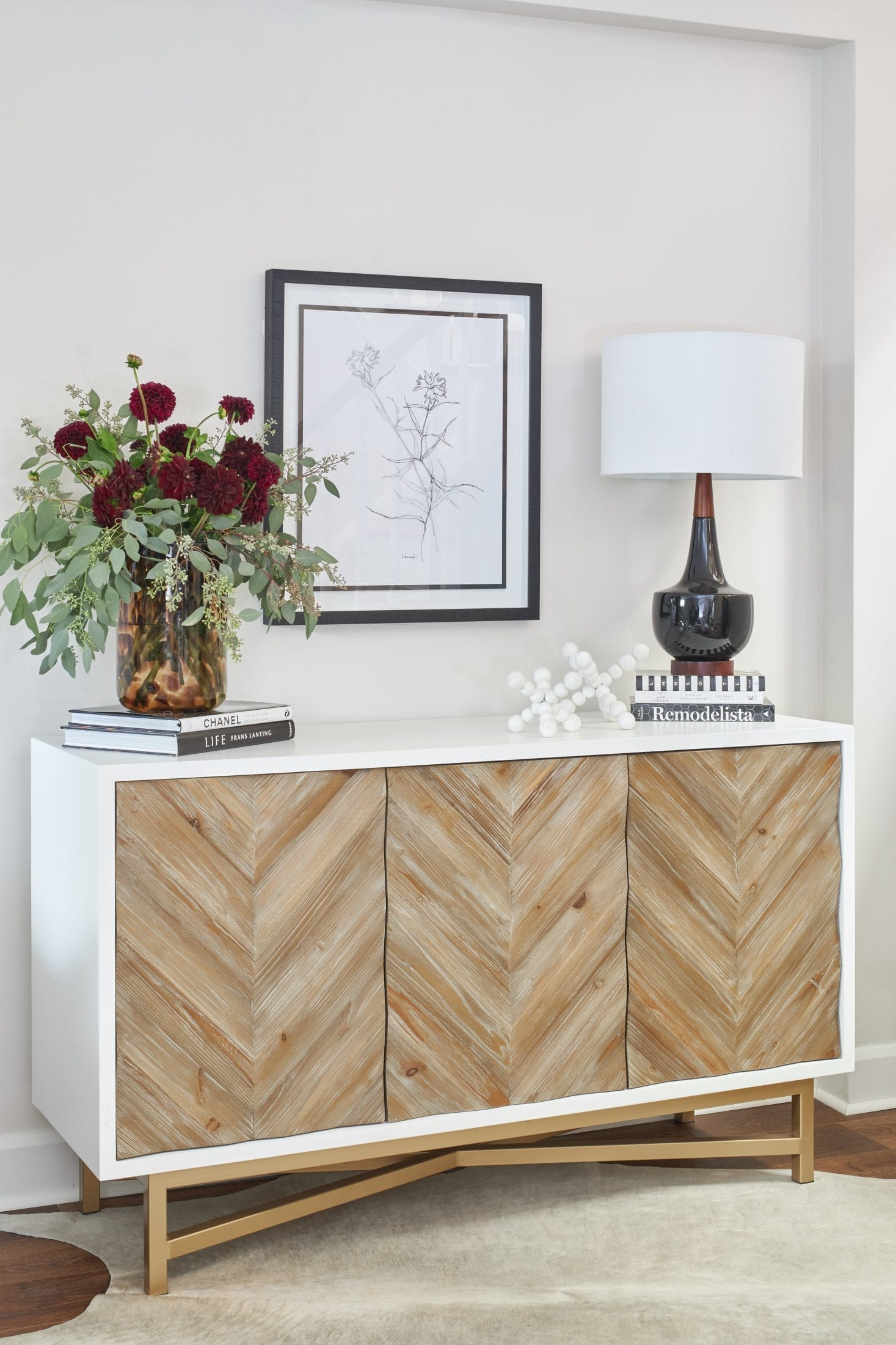 Console table styling ideas artwork selection lakehouse