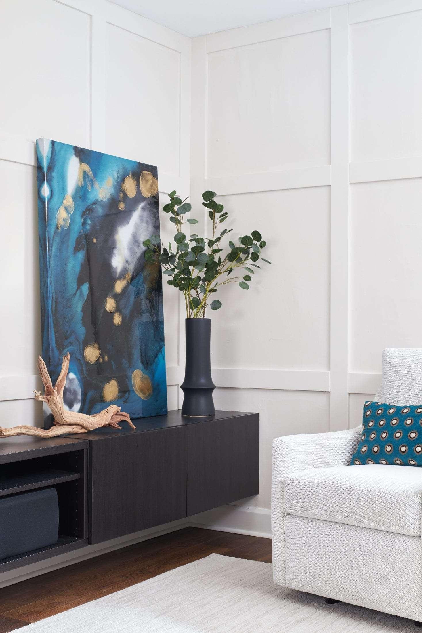 shaker style paneling basement renovation interior design