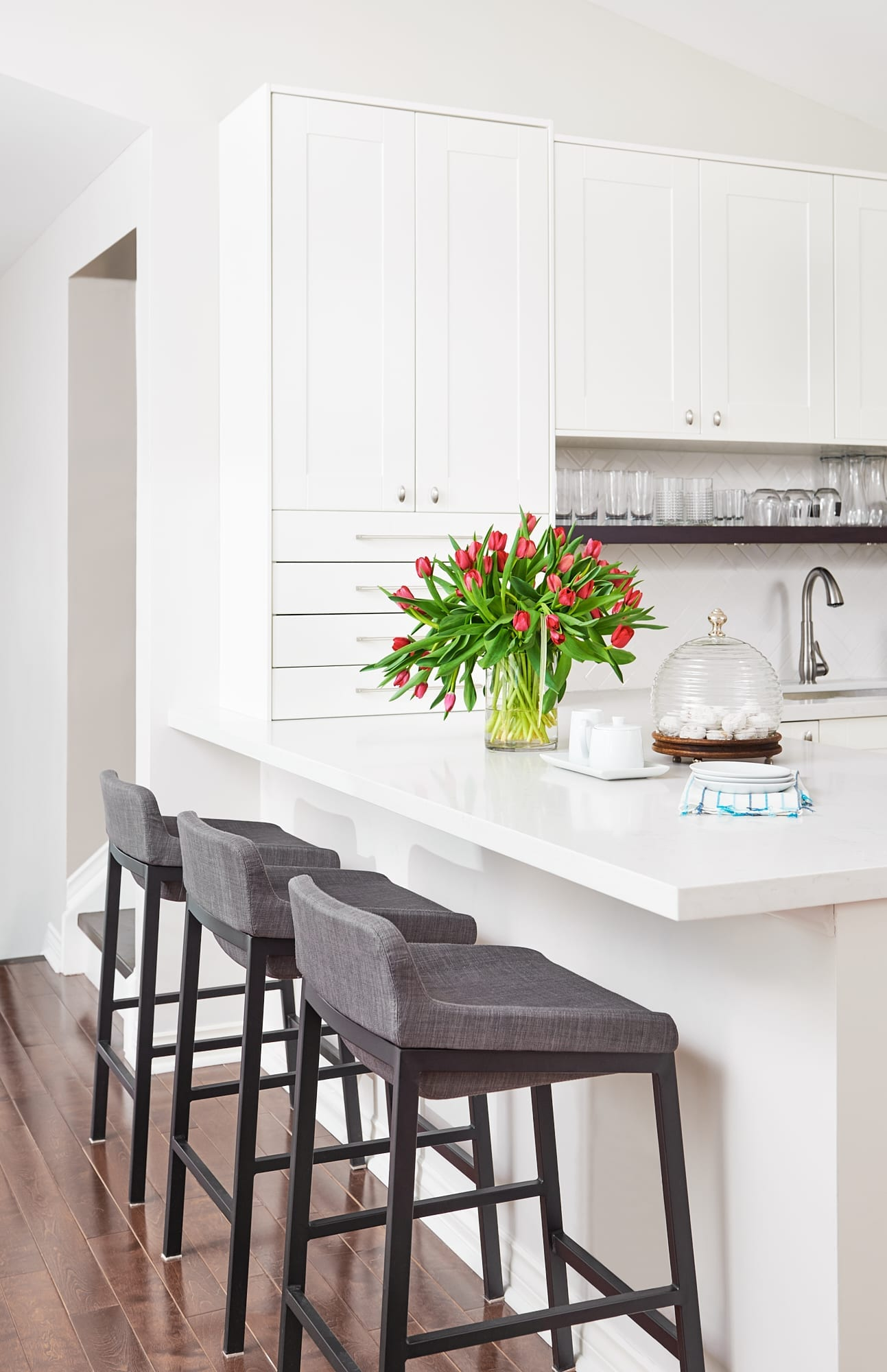 White modern kitchen interior design orangeville tottenham caledon east