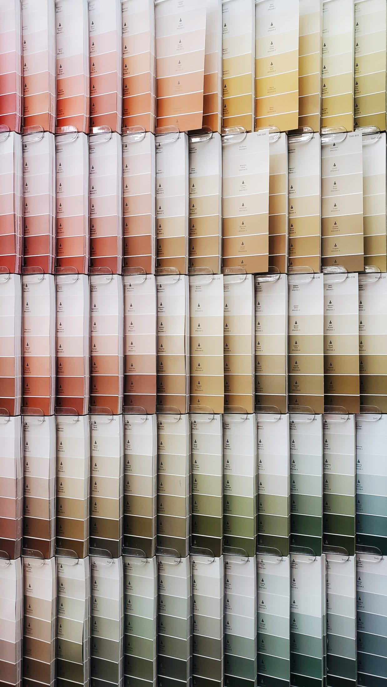 use paint samples and match them to your fixed materials to get the paint colour right.