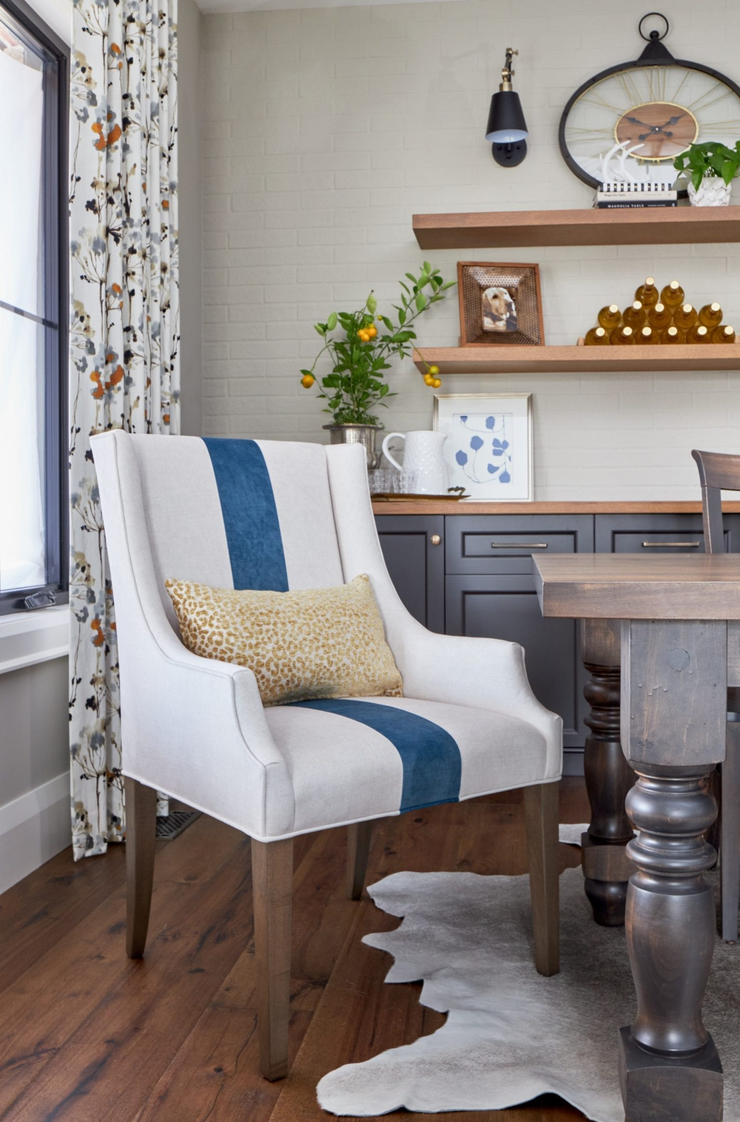 dining room styling ideas blue and white striped dining chair custom built home