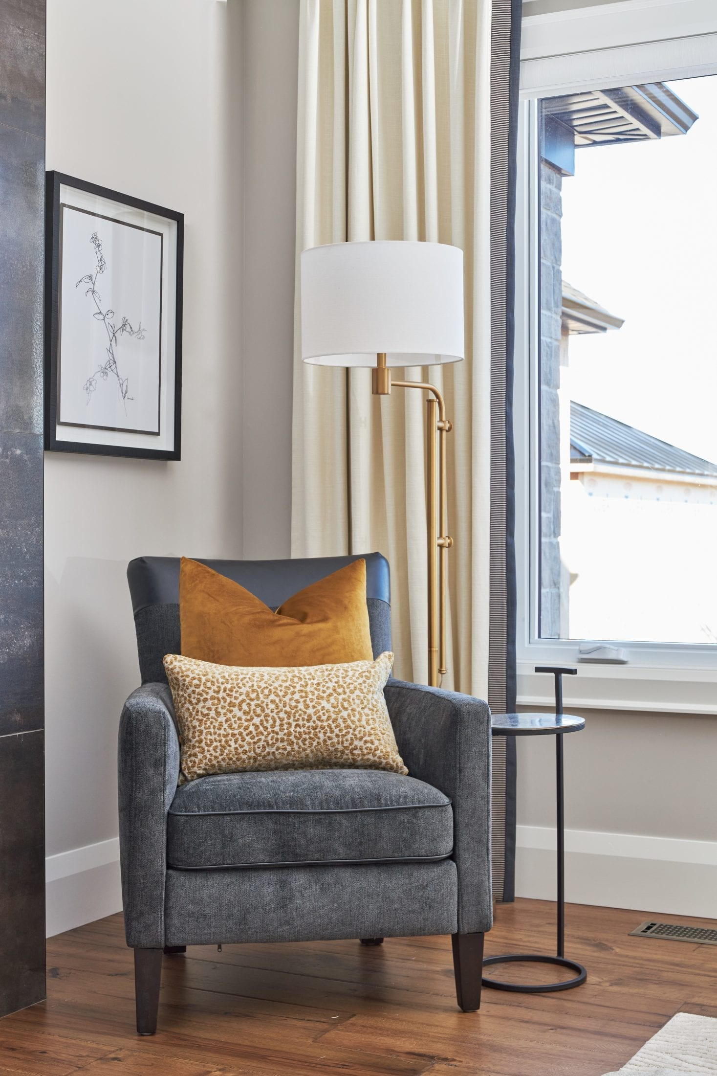 reading chair master bedroom custom drapery beeton, ON