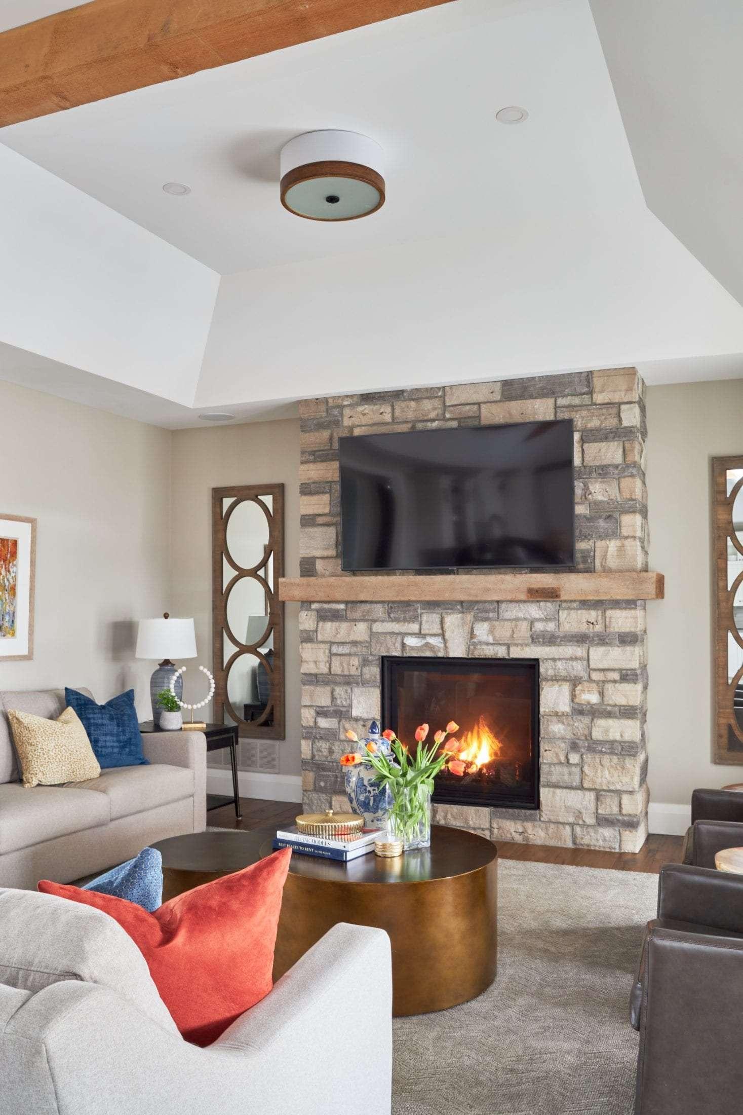 Modern Farmhouse great room design brentwood classics sofa