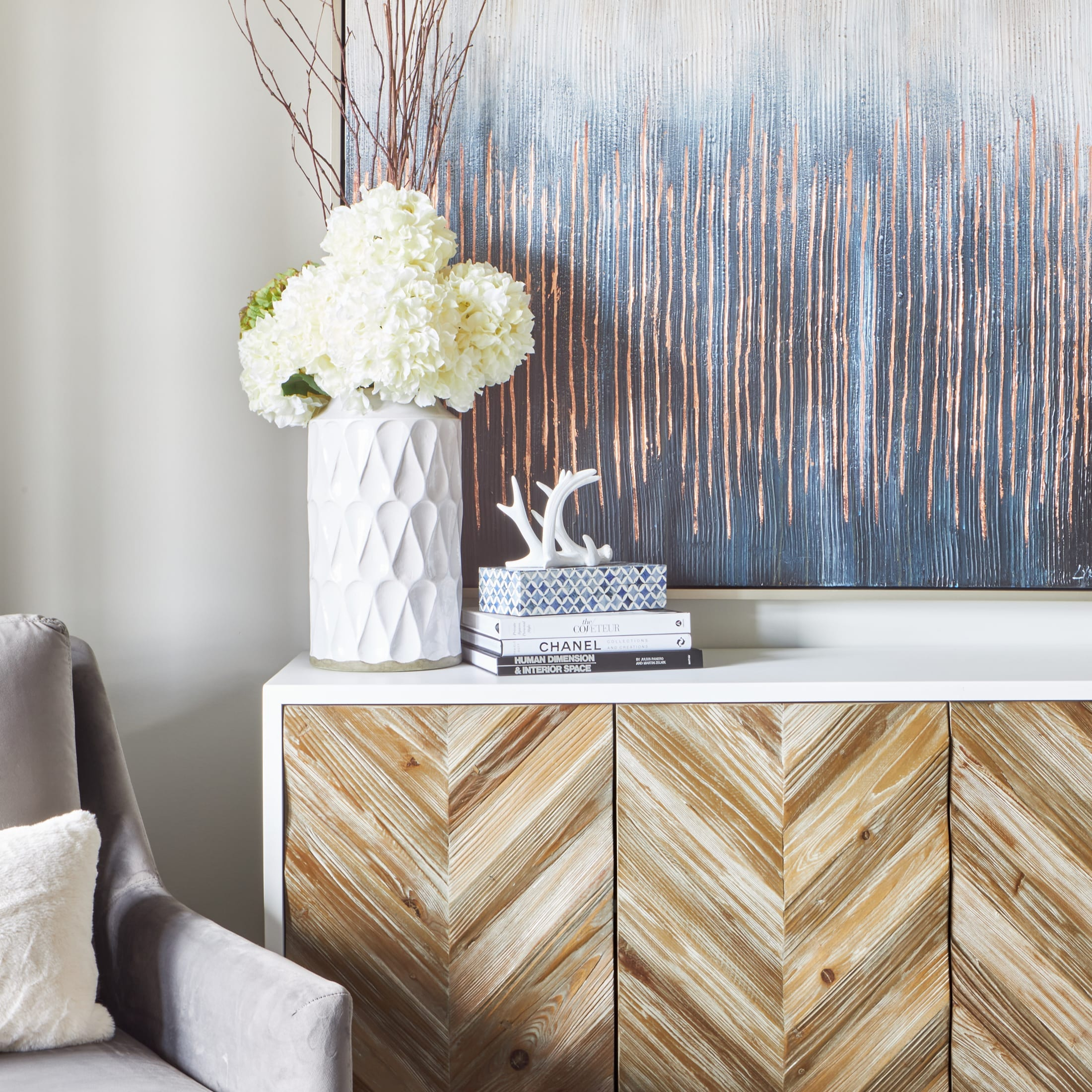 Interior Design Styling blue gold and gray ideas Kleinburg, ON