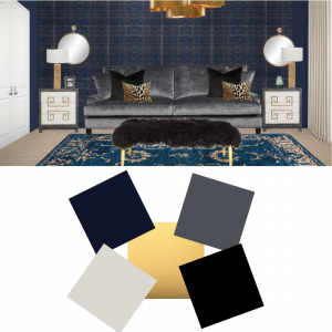Hollywood Regency Paint Colours